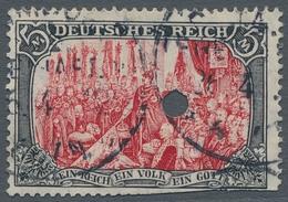 Deutsches Reich - Germania: 1905, Germania 5 Mark Ministerdruck, Rahmen Dunkelgelbocker Quarzend, Sa - Deutschland