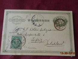 Entier Postal Du Japon De 1895 à Destination De Leipzig - Ansichtskarten