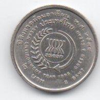 "Tailandia 2 Baht 1995 Asean-enviroment Year ""greenland Clean"" - Tailandia"