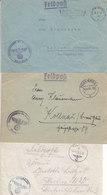 1941 - GERMANY - III REICH - FELDPOST - FIELD POST - CORREO DE CAMPAÑA - 3 COVERS - Briefe U. Dokumente