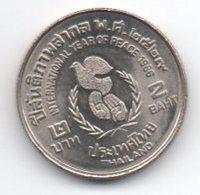 Tailandia 2 Baht 1986 Year Of Peace - Tailandia