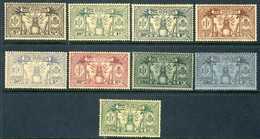 1925 New Hebrides Complete Set Of 9 Dual Currency Stamps MH No Gum , Michel 77-85 - Unused Stamps