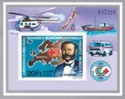 1981, Ungarn, 3494 Block  149 A, MNH **, Henri Dunant, Gründer Des Roten Kreuzes. - Hojas Bloque
