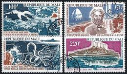 MALI - 1960 - N°239/242 Oblitérés - JULES VERNE - 4 Valeurs - Mali (1959-...)