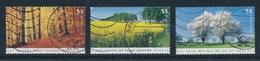 BRD Mi. 2574 - 2576 Gest. Bäume: Kirschbaum Buchenwald - Bäume