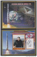 SATELLITES, 2016, MNH, SUCCESSFUL LAUNCH OF SATELLITE, FLAGS, LEADERS, 2 S/SHEETS - Sciences