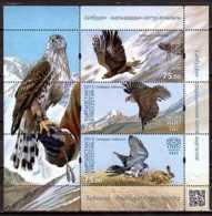 2015 Kyrgistan -Birds Of Pray - Stallburn Traditiona Falcon Hunting - MS - Paper - MNH** Falconry Mi B 2 - Kirgisistan