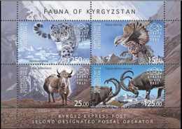 2014 Kyrgistan - Fauna Of Kyrgistan - Eagles, Snow Bars, Bisons, Gooats - MS - Paper - MNH** MiNr. 6 - 9 - Kirgisistan