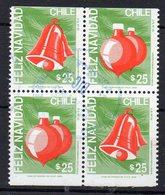 CHILI - CHILE - FELIZ NAVIDAD - JOYEUX NOEL - MERRY CHRISTMAS - Bloc De 4 - Bloc Of 4 - 1989 - Oblitéré / Used - - Chile