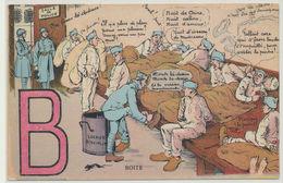 Alphabet B - Boite. Illustrateur A. Gaillard - Militaire - Patriotique - Humoristiques