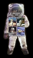 Maldives 2019 Mih. 8508/11 (Bl.1368) Space. Apollo 11. Moon Landing MNH ** - Maldives (1965-...)