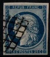 Y&T N°4 Oblitéré Margé TB - 1849-1850 Cérès