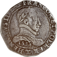 """Polen: 1578, """"Henry III."""" 1/2 Ecu In Schöner Bis Sehr Schöner Erhaltung. - Polen"""
