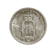 Schweden: 1884-1899, 25 Öre Von 1899 Und 10 Öre Von 1884 Jeweils In Vorzüglicher Erhaltung. - Schweden