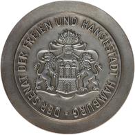 """Medaillen Deutschland: HAMBURG; Offizielle Medaille """"Zur Diamantenen Hochzeit"""" Aus 925 Silber In Vor - Deutschland"""