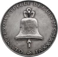 Medaillen Deutschland: OLYMPISCHE SPIELE; 1936, Silbermedaille Im Originaletui In Tadelloser Erhaltu - Deutschland