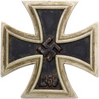 """Orden & Ehrenzeichen: 3.REICH; """"Eisernes Kreuz"""" 1.Klasse (versilbert) Mit Nadel Und Ohne Hersteller - Army & War"""