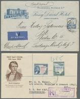 Alle Welt: 1930-2012, Kleine Partie Von 26 Belegen Mit Mauritius, Einem Luftpostbrief Von Palästina - Briefmarken
