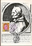 Portugal & Maximum Card, Pedro Hispano, VII Centenário Da Morte Do Papa João XXI, Lisboa 1977 (1342) - Portugal