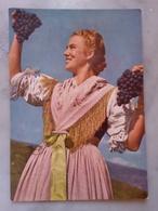 Costumi Dell'alto Adige VIAGGIATA 1957 Ragazza Uva Vendemmia Bella - Costumi