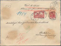 Deutsches Reich - Germania: 1916, Lot Von Zwölf Wertbriefen Nach Stockholm (Bankbriefe Ab Berlin, Ha - Deutschland