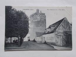 Carte Postale  - VERNEUIL (27) - Place St Laurent - Tour Grise (3072) - Verneuil-sur-Avre