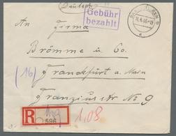 Saarland Und OPD Saarbrücken: 1945-1958, Bestand Von 30 Meist Markenlosen Belegen. Besonders Zu Erwä - Saar