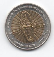 Tailandia 10 Baht 2009 100° Commando Generale - Tailandia