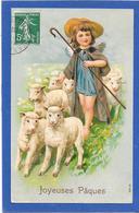 Ange Berger Et Son Troupeau De Moutons - PAQUES - Gaufrée, Relief - Non Classés