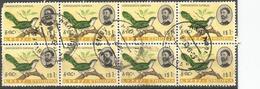 Ethiopia - 1962 Emerald Cuckoo $1 Block Of 8 Used    Sc 390 - Ethiopia