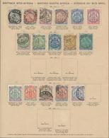Afrika: 1860-1918, Ungebrauchte Und Gestempelte Sammlung In Einem Alten Vordruckalbum Mit U.a. Briti - Sonstige - Afrika
