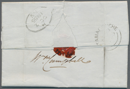 Neuschottland: 1848/1855, Lot Of Five Lettersheets Showing A Nice Range Of Postmarks: PICTOU, TATAMA - Neuschottland