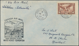 Canada: 1928/1949, Lot Of Apprx. 170 Airmail Covers (1st Flights), Franked With Airmail Stamps And B - Kanada