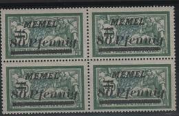 MEM 14 - MEMEL Merson N° 56 Bloc De 4 Neuf** - Ungebraucht