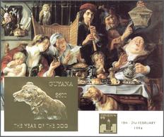 Guyana: 1994, 18 Blockausgaben Mit Gold- Und Silberprägungen Ab Briefmarkenausstellung Hong Kong 94. - Guyana (1966-...)