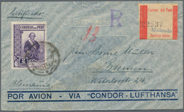 Peru: 1857/1932, About 50 Covers And Stationeries From The Time Of 1873/1932 As Well As Loose Stamps - Peru