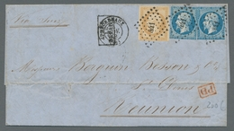Reunion: 1854-1912, Ungemein Reichhaltige Sammlung Von 190 Frankierten Briefen, Karten, Briefvorders - Ohne Zuordnung