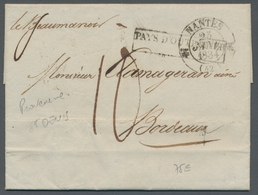 Reunion: 1820-66, Interessante Sammlung Von 122 Markenlosen Altbriefen In Zwei Briefealben Mit Diver - Ohne Zuordnung