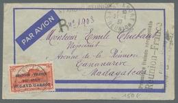 Reunion: 1917-75, Reichhaltige Sammlung Von 100 Briefen Und Karten Im Briefealbum, überwiegend Luftp - Ohne Zuordnung
