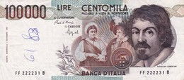 """ITALY 100000 LIRE 1983 P-110a VF """"free Shipping Via Registered Air Mail"""" - [ 2] 1946-… : Republiek"""