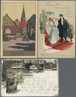 Ansichtskarten: 1900-1970 (ca.), Partie Von Etwa 230 Ansichtskarten Mit U.a. Sehr Viel Deutschland M - 500 Karten Min.