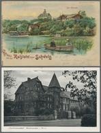 Ansichtskarten: 1900-1960, Partie Von Etwa 210 Ansichtskarten Mit U.a. Deutschland Mit Einigen Gasts - 500 Karten Min.