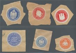Vignetten: 1880-1920 (ca.), Partie In Tüten Mit Einigen Hundert Amtlichen Deutschen Siegelmarken Auf - Vignetten (Erinnophilie)