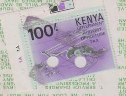 Boarding Pass Kenya Mit Steuer Marke / Aerport Departure Tax - Sonstige