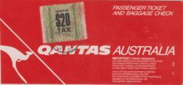 Boarding Pass Qantas Australia Mit Steuer Marke / Aerport Departure Tax - Sonstige