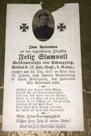 Sterbebild Wk1 Ww1 Bidprentje Avis Décès Deathcard IR12 LISSEY Grab 768 Aus Schnapping Dezember 1917 - 1914-18
