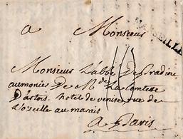 1781 - Lettre à M. L'Abbé De PRADINE, Aumonier, De Mde La Comtesse D'ARTOIS, Hôtel De Venise à Paris - Historische Documenten