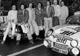 Tour De Corse 1973 - Alpine-Renault A110 - Les Pilotes: Piot-Mignotet-Callwaert-Nicolas-Thérier-Vial - 15x10cms PHOTO - Rallyes