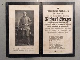 Sterbebild Wk1 Ww1 Bidprentje Avis Décès Deathcard IR2 BERTRIMOUTIER VOGESEN VOSGES Block 1 Grab 417 Aus Schuldholzing - 1914-18
