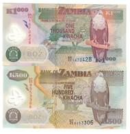 Zambia Lot Set 500 & 1000 Kwacha 2011 UNC .PL. - Zambia